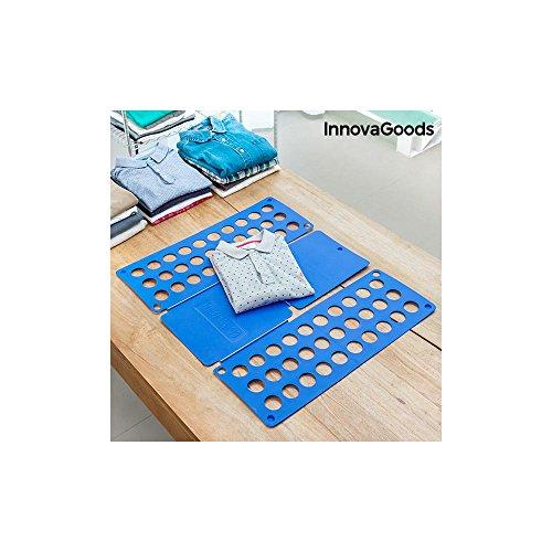 InnovaGoods Doblador de Ropa, Polipropileno, Azul, 24x59x3 cm