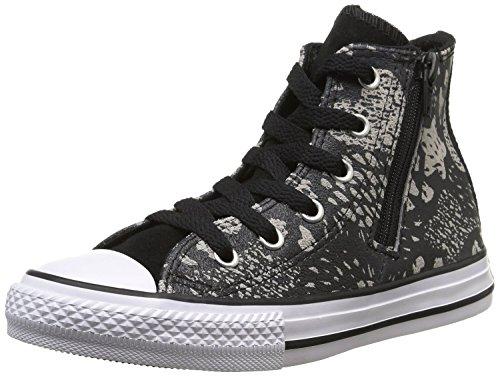 Converse Ct Bb Animal Zp, Unisex-Kinder Sneakers black/mous