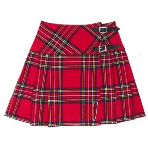 Tartanista Damen Minikilt Rock-42 cm-Royal Stewart Muster mit Nadel - EU48 UK22