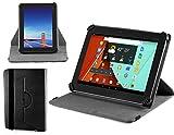 Navitech stilvolles rotierbares Stand Case Cover Hülle in Schwarz mit Stylus Pen für das Odys Lux 10 Tablet-PC