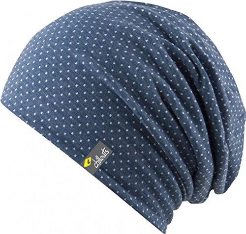 Chillouts Florence Hat - 3 Farben Damen und Herren - super leicht Summer Slouch Beanie - Long Beanie - Neu - Frühling Sommer, Farbe:Blau