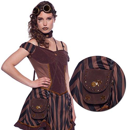 Steampunk Handtasche Dieselpunk Tasche braun Cyberpunk Damenhandtasche Gothic (Dieselpunk Kostüme)