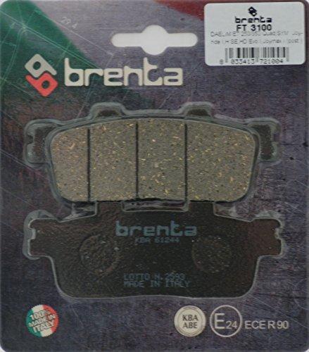 Brenta Pastillas freno organiche Moto para Daelim St 250Sector Quad, E-Ton Rxl...