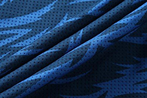 jeansian Herren Sportswear Quick Dry Short Sleeve T-Shirt LSL020 LSL192_Blue