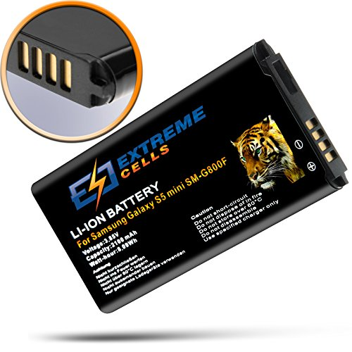 Extremecells Akku für Samsung Galaxy S5 mini SM-G800F ersetzt EB-BG800 Batterie Battery Acuu