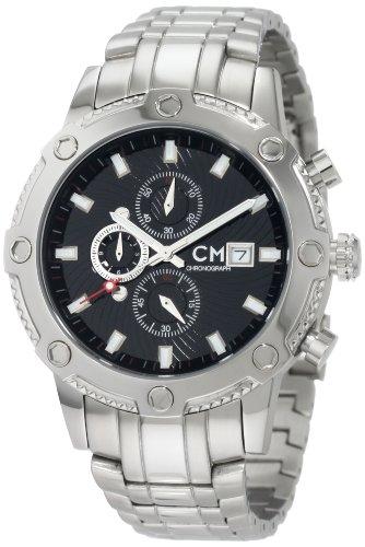 Carlo Monti - CM100-121 - Montre Homme - Quartz - Analogique - Chronomètre - Bracelet Acier inoxydable Argent