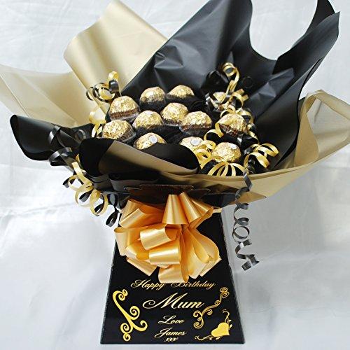 mini-black-personalised-ferrero-rocher-sweet-chocolate-bouquet-hamper