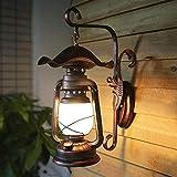 Retro Petroleum Wandlampe, Antike Eisen Schmiedeeisen E27 Laternen Inn Hof Flur Dekoration Treppe, Qi Xian