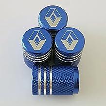 Láser azul Renault tallada aleación rueda coche neumático Valve Dust caps se adapta ...