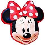 Unbekannt Plüsch Kissen / Schmusekissen / Sitzkissen -  Disney Minnie Mouse  _ Kuschelkissen - 35 cm * 37 cm - Figur Form - groß - sehr weich - für Mädchen Baby - Plü..