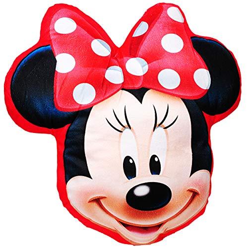 alles-meine.de GmbH Plüsch Kissen / Schmusekissen / Sitzkissen -  Disney Minnie Mouse  _ Kuschelkissen - 35 cm * 37 cm - Figur Form - groß - sehr weich - für Mädchen Baby - Plü.. (Minnie Mouse Kissen)