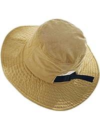 Cappello Grande Orlo Donne Pescatore Cappello Crema Solare Giapponese retrò  Colore Pieno Sole 0ba77084c216