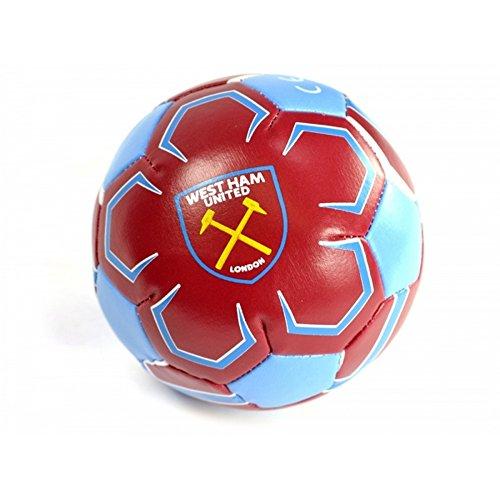 offizieller West Ham FC Mini-Softfußball (Mini) (Claret/Blau)