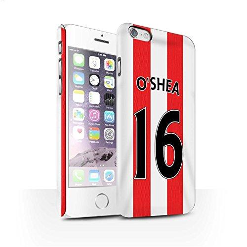 Offiziell Sunderland AFC Hülle / Matte Snap-On Case für Apple iPhone 6S / Pack 24pcs Muster / SAFC Trikot Home 15/16 Kollektion O'Shea