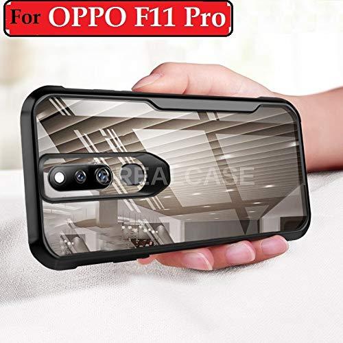REALCASE Oppo F11 Pro Case Cover Bumper Clear Gel TPU Bumper Back Phone Case for Oppo F11 Pro [Shock Proof] [Anti-Slip] [Scratch Resistant] (B Black)