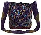 Batik Sadhu Bag Hippie Tasche, Goa Schulterbeutel - lila / Sadhubag, Hippie Beutel