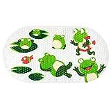 Anti Slip Bathmat BliGli PVC Cute Cartoon Kid Bath Mats with Suction Cups (frogs)