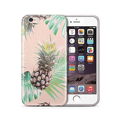 iPhone 6 6S Hülle, Cujas Weiche TPU Silikon Schutzhülle Blickdicht mit IMD Technologie Case Schutz Handyhülle (iPhone 6 / 6S Ananas)
