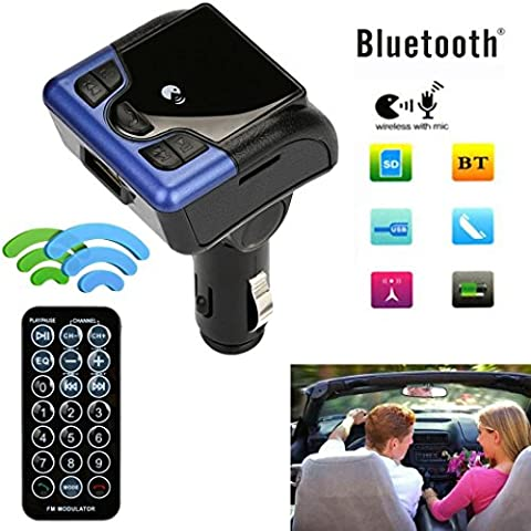Emorpal transmetteur FM sans fil Bluetooth Car Kit support USB Charge auxiliaire adaptateur radio MP3 mains libres appel