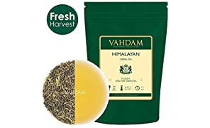 Feuilles de thé vert de l'Himalaya (plus de 100 tasses), 100% thé vert naturel, feuilles mobiles, antioxydants naturels puissants, récolte fraîche