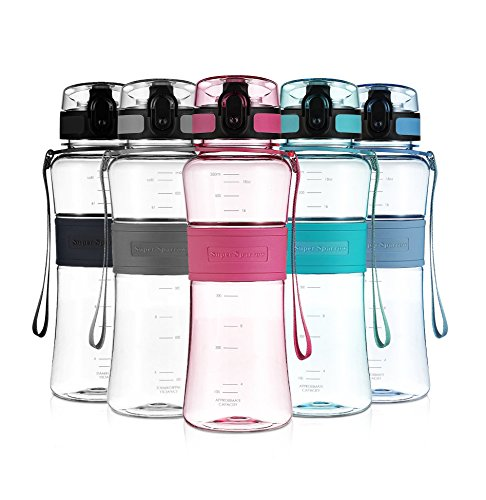 uper Sparrow Sports Wasser-Flasche Trinkflasche - Eco Friendly & BPA-freiem Kunststoff - für das Laufen, Fitness, Yoga, Im Freien und Camping (Gefrierschrank Gel-wasser-flasche)