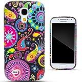 Zooky® nero TPU MAGIA PITTURA COVER / CASE / CUSTODIA per Samsung Galaxy S4 MINI (I9190)