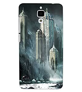 ColourCraft Flying Castle Design Back Case Cover for XIAOMI MI 4