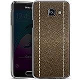 Samsung Galaxy A3 (2016) Housse Étui Protection Coque Cuir marron Look Structure en cuir