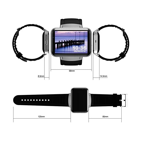 "OOLIFENG Bluetooth Reloj Inteligente DM98 Pantalla 2.2"" Sistema operativo Android 4.4 con WiFi GPS para Android Teléfono Inteligente 7"
