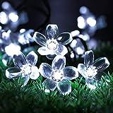Guirlande lumineuse solaire Sakura pour extérieur, étanche, jardin, paysage, balcon, décoration de jardin, lanterne florale 5 m20