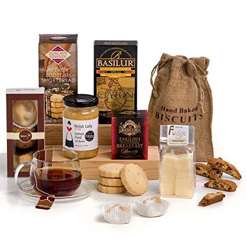 Tea Time Delights - Tea & Biscuits Hamper Box Gift - FREE UK Delivery