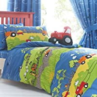 Hilltop Farm Toddler Bedding - Tractors, Barns and Sheep