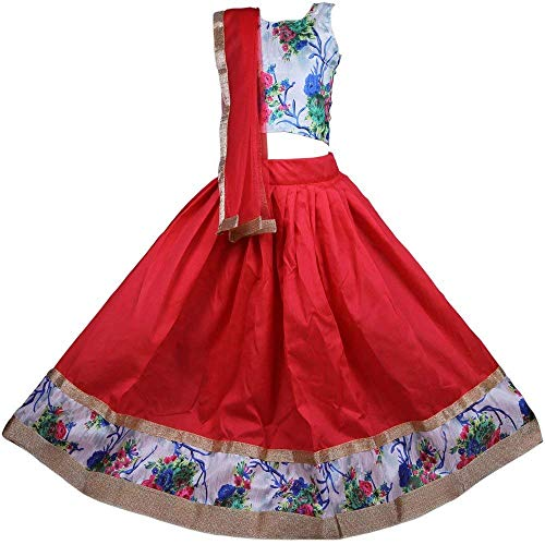New Creation Pure Jacquard & Banglory Silk Readymade Lehenga Choli Set for girls (5-6 Years)