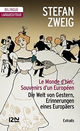 Couverture du livre Bilingue - Le Monde d'hier (extraits)