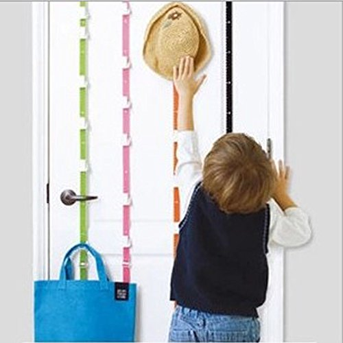 ieasycan-over-the-door-adjustable-hat-hooks-7-rail-with-6-coat-hooks-no-need-drill-into-the-walls-wi