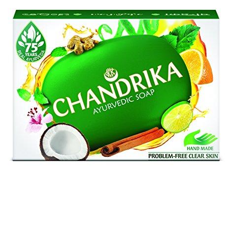 Savons ayurvédique 7 huiles essentielles Chandrika Traitement anti-acné, rougeurs, démangeaisons 125 g