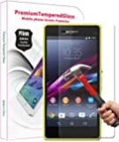 PThink 0.3mm Ultra-thin Tempered Glass Screen Protector for Sony Xperia Z1 Compact/Z1 mini with 9H Hardness/Anti-scratch/Fingerprint & water & oil resistant (Sony Xperia Z1 Compact/Z1 mini)