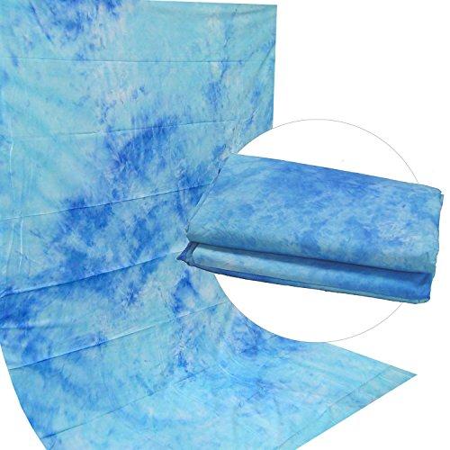Fotostudio Motiv Stoff Hintergrund DynaSun W025 2,8x4,0 Dark Blue Struktur Dicke Baumwolle 120g/sqm