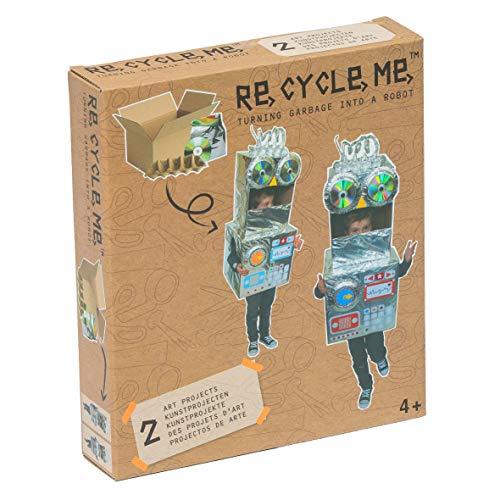 Kostüm Recycling Jungen Für - Re Cycle Me DEFG1140 Recycling Bastelspaß Make A Themenwelt, Bastelset für 2 Roboter Kostüm Modelle, Kreativset für Kinder ab 4 Jahre, Set zum Basteln mit Haushaltsmaterialien, Recycle Mich, Bastelmix