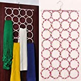 OxbOw Multi Purpose 28 Rings Fold-able Hanger for Ties, Scarfs, Belts, Bags