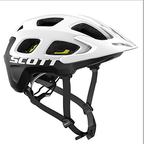 Scott Vivo Plus MTB Fahrrad Helm weiß/schwarz 2018: Größe: M (55-59cm)