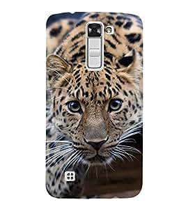 FUSON Tiger Eady To Attack 3D Hard Polycarbonate Designer Back Case Cover for LG K10 :: LG K10 Dual SIM :: LG K10 K420N K430DS K430DSF K430DSY