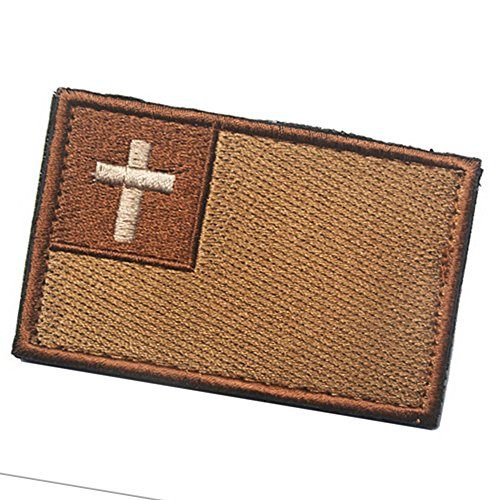 KingNew bestickt Nähen Eisen auf Patch Jesus Christus Kreuz Patch (Mud Farbe) (Jesus Patch)