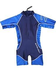 Zunblock Snake - Traje de natación con mangas cortas para niño, color azul marino / azul royal, talla 122-128