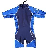 Zunblock Snake - Traje de natación con mangas cortas para niño, color azul marino/azul royal, talla 86-92