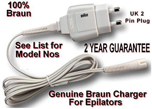 Braun Power Supply CHARGER for Epilator & Lady Shave. 2 YEAR GUARANTEE....