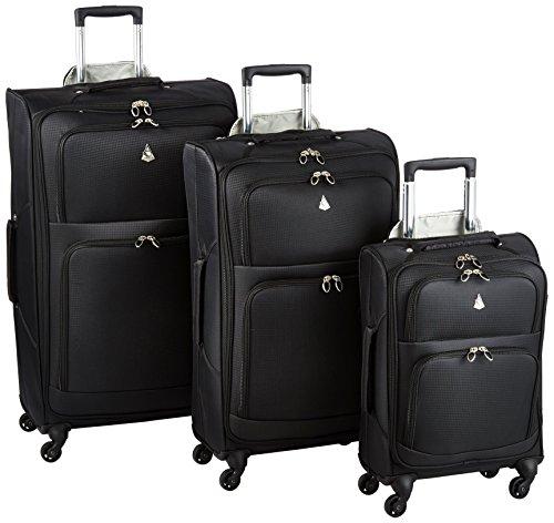 Aerolite The London Collection Juego de maletas AERO9970 BLACK 3 PCS 21/26/29, 75 cm, 105 L, Negro