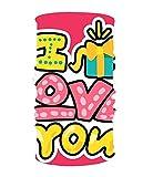 Miedhki Romantic Love 16-in-1 Sciarpa Magica, Maschera per Il Viso, Passamontagna Bandana per Outdoor Sports Design17