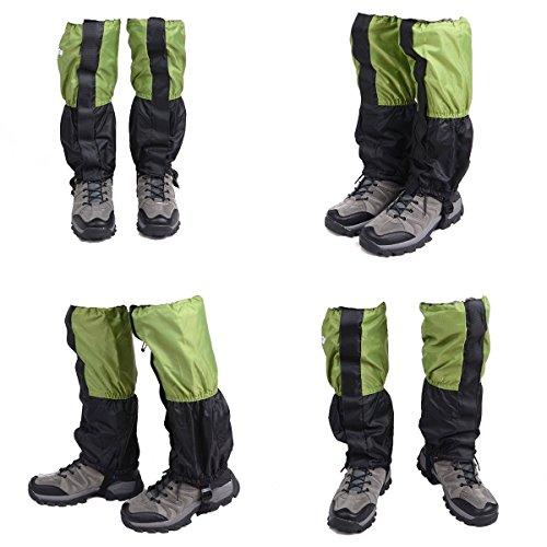 Ghette bambini di ghette gamba impermeabile arrampicata Trekking ghette da neve Legging - 1 coppia verde Ragazzo