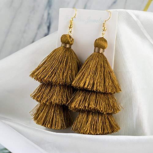 WSXA Layered Lange Kupferlegierung Ohrringe Für Frauen Weibliche Anhänger Fringe Frau Ohrring Geschenk Schmuck -